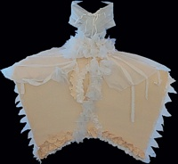 Velázquez Dress -- photo by Sienna M Potts -- artwork © Shelley Martin (click to see a larger version of the paper sculpture)